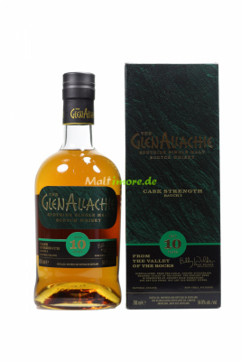 GlenAllachie 10 Jahre Cask Strength Batch 02 54,8% vol....