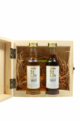 KAVALAN Miniaturset in Holzbox Solist Sherry & Solist...