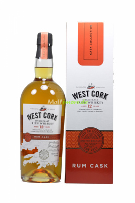 West Cork 12 Jahre Rum Cask Finish Irish Whiskey 43% vol....