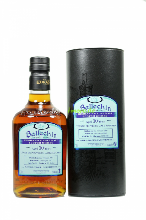 Ballechin Cotes de Provence Single Cask No.20 58,4% vol. 700ml