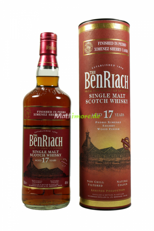 Benriach 17 Jahre Pedro Ximenez Finish 46% 700ml