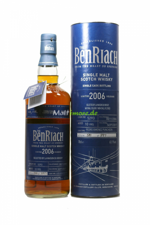 Benriach 2006/2017 Single Cask #5293 PX Single Cask 63,1% 700ml