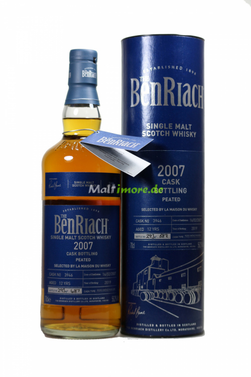 Benriach 2007/2019 Single Cask #3946 Peated PX Puncheon LMDW 56,2% 700ml