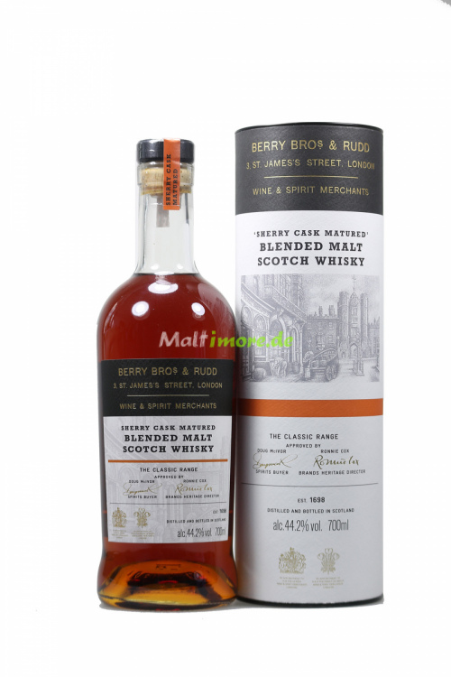 Berry Bros and Rudd Sherry Cask Matured Blended Scotch Whisky 44,2% 700ml