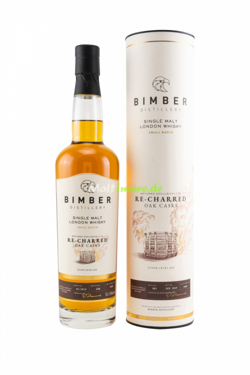 Bimber Single Malt London Whisky Re-Charred Oak Casks 51,9% vol. 700ml