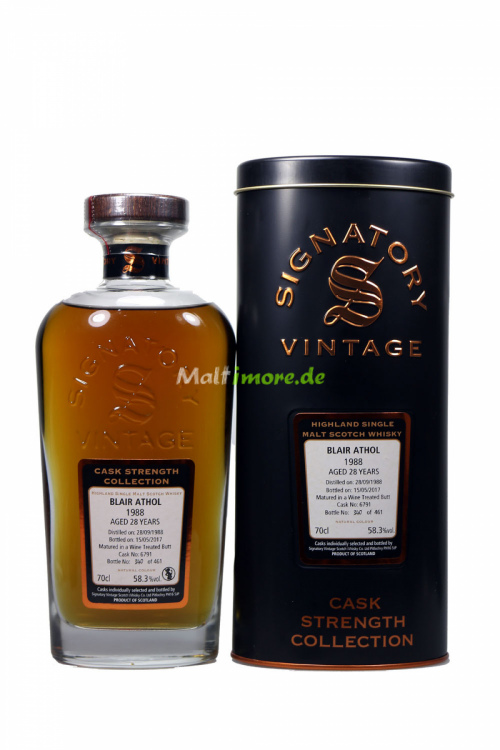 Blair Athol 1988 Signatory Vintage Wine Butt 6791 58,3% 700ml