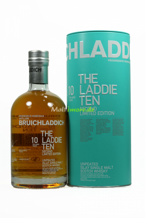 Bruichladdich The Laddie Ten 2nd Edition Unpeated Islay Whisky 50% 700ml