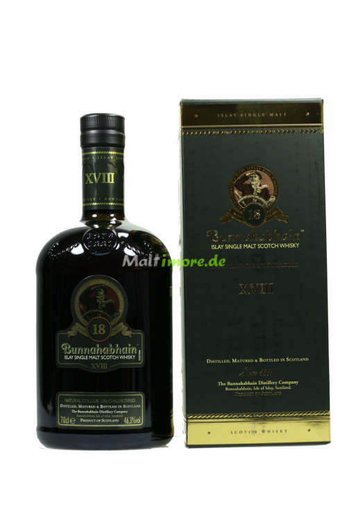 Bunnahabhain 18 Jahre Islay Single Malt Scotch Whisky 46,3% 700ml