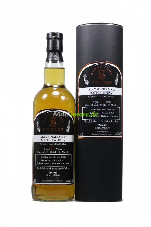 Caol Ila 2007 SV #9 Sherry Cask Finish Signatory Un-Chillfiltered by Kirsch 46% vol. 700ml