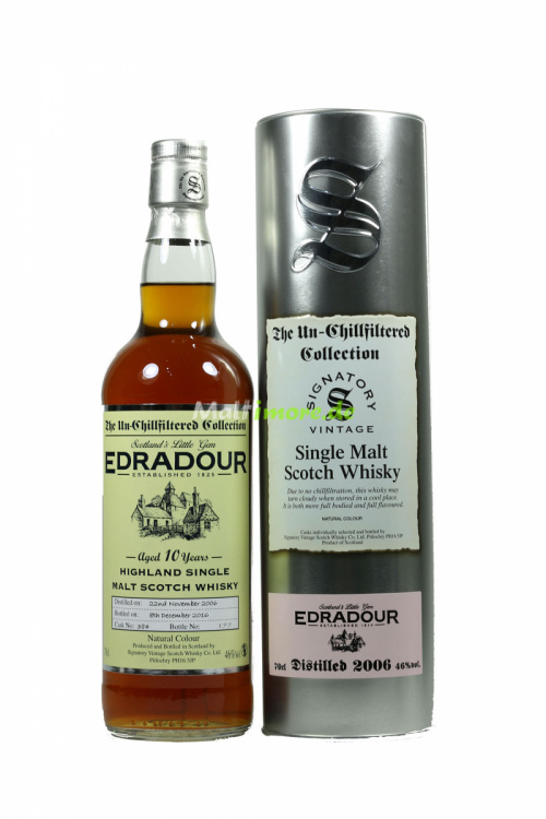 Edradour 2006 SV The Un-Chillfiltered Collection Sherry Cask No. 384 46% 700ml