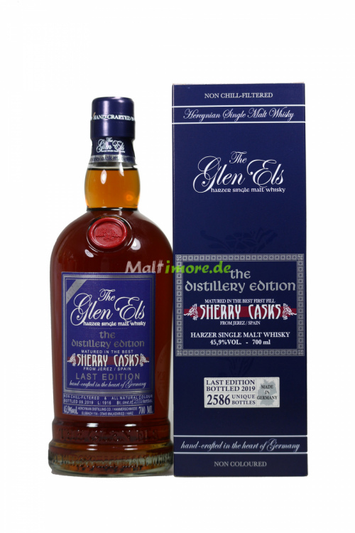 Glen Els The Distillery Edition 2019 Sherry Casks Last Edition 45,9% vol. 700ml