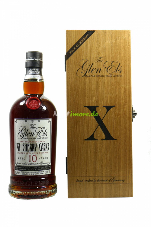 Glen Els X 10 Jahre L1708 PX Sherry Casks Non-Woodsmoked 49,6% 700ml