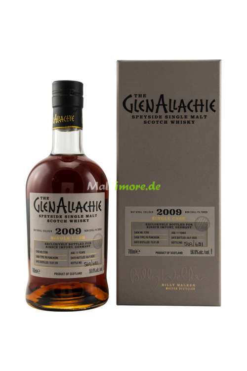 GlenAllachie 2009 Single Cask for Germany Pedro Ximénez Puncheon #5708 56,8% vol. 700ml