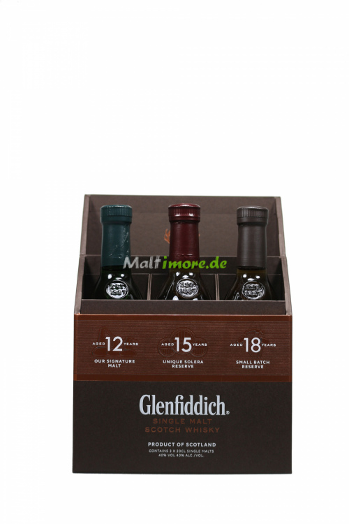 Glenfiddich Set 12 Jahre 15 Jahre 18 Jahre 3x200ml Tasting Set