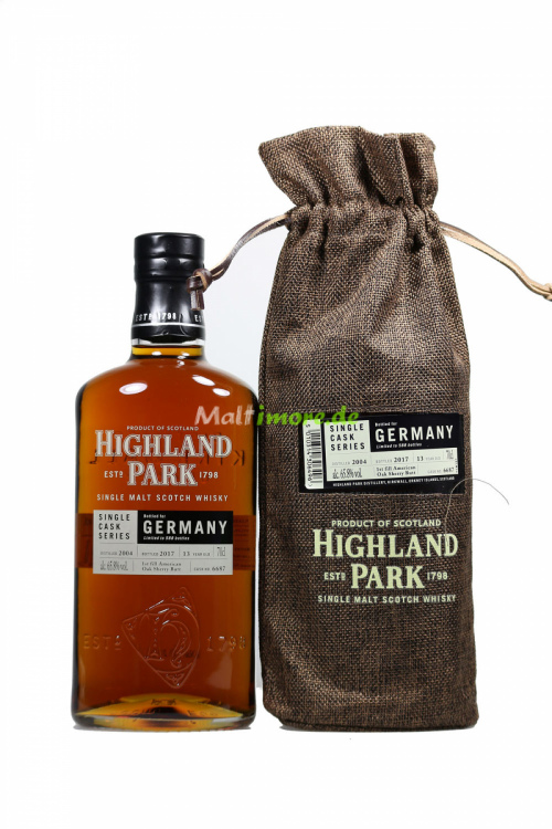 Highland Park 2004/2017 Cask No. 6687 American Oak Sherry Butt 65,8% vol. 700ml