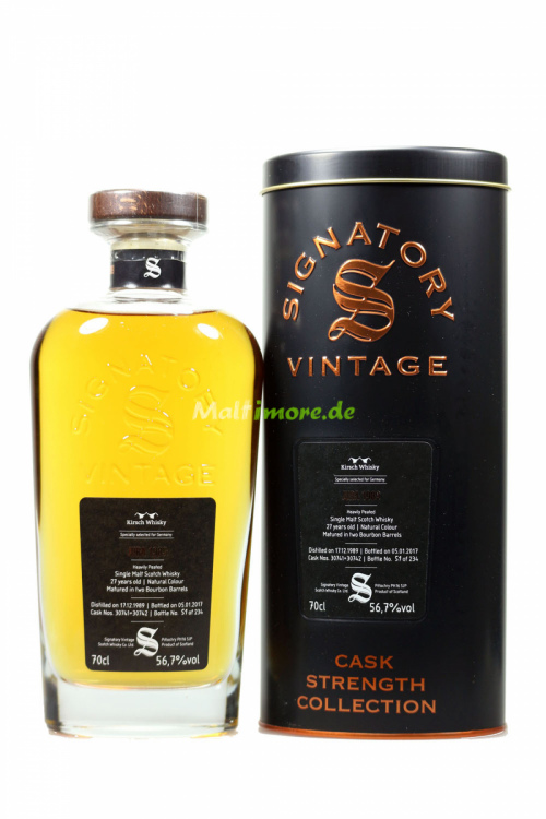 Jura 1989/2017 Signatory Vintage Two Bourbon Barrels 56,7% vol 700ml