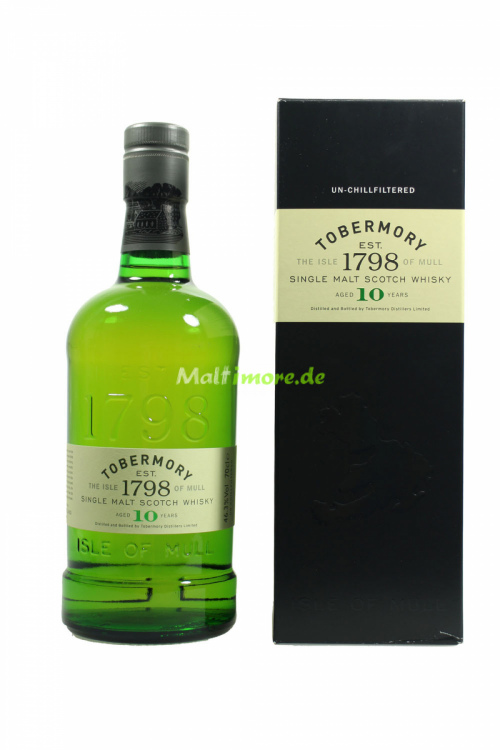 Tobermory 10 Jahre Single Malt Scotch Whisky 46,3% 700ml