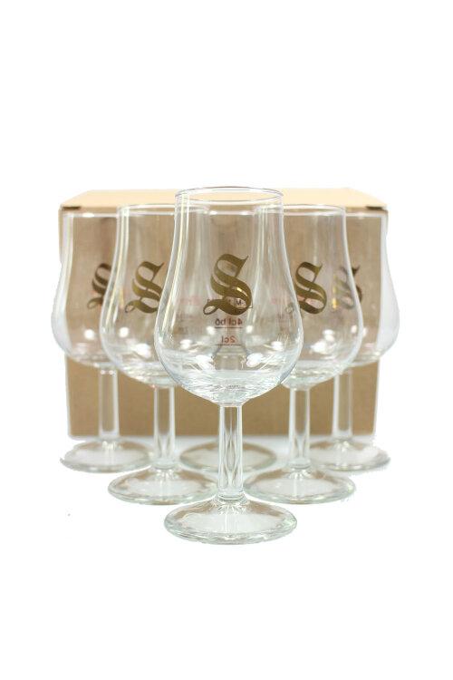 """6x Nosing-Glas """"Signatory"""" mit Eichstrich 2cl/4cl"""