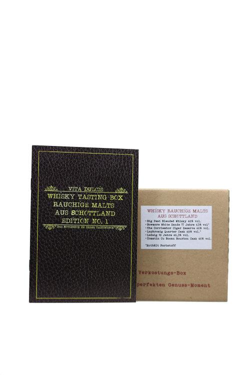 """Whisky Geschenk Box No.8 """"Rauchige Malts aus Schottland"""" Whisky Tasting 6x20ml"""
