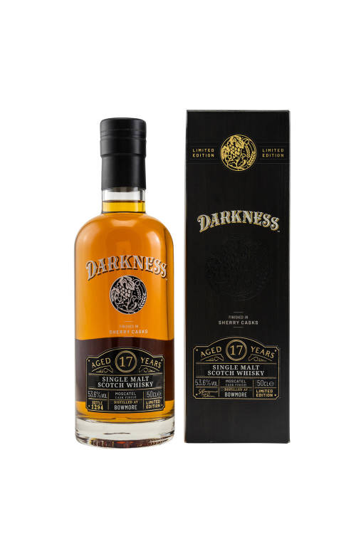 Bowmore 17 Jahre Darkness Octave 11723/101 Moscatel Cask Finish 53,6% vol. 500ml