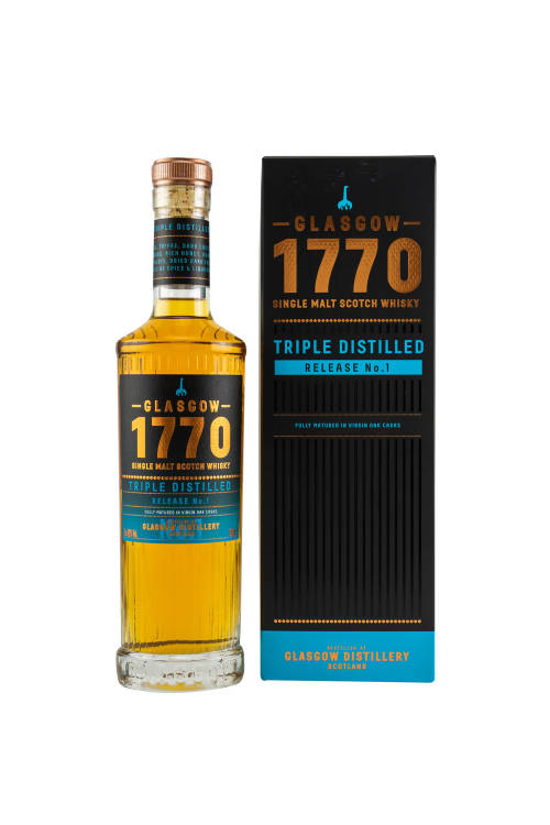 Glasgow 1770 Release No.1 Triple Distilled Virgin Oak Casks 46% vol. 500ml