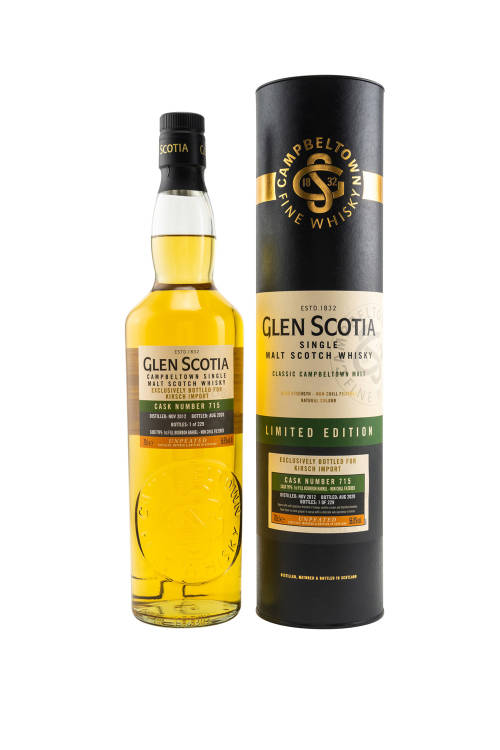 Glen Scotia 2012/2020 Single Cask First Fill Bourbon #715 56,8% vol. 700ml