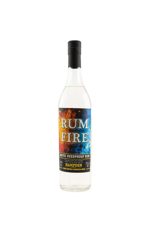 Hampden Rum Fire White Overproof Rum Jamaican Rum 63% vol. 700ml