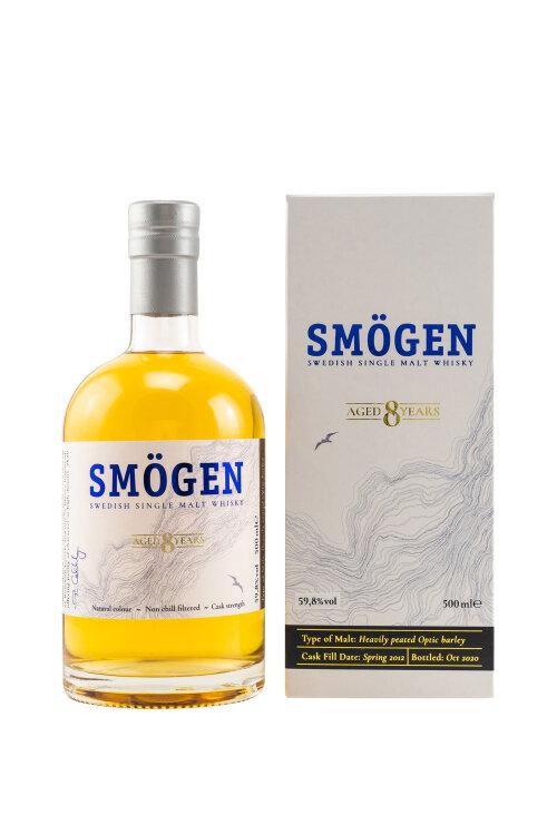 Smögen 2012/2020 8 y.o. Heavily Peated Swedish Single Malt  59,8% vol. 500ml