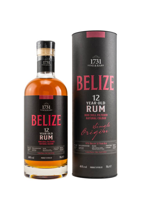 1731 Fine & Rare Belize (Travellers Liquors) 12 years old Rum 46% vol. 700ml