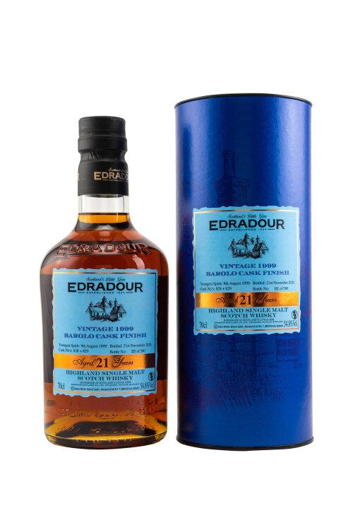 Edradour 1999/2020 Single Barolo Cask Finish #828+829 54,5% vol. 700ml