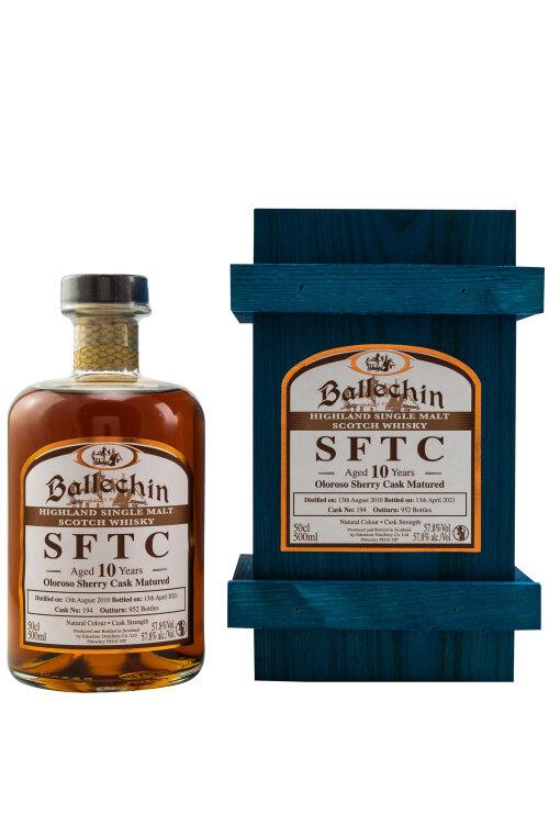 Ballechin SFTC 2010/2021 10 Jahre Oloroso Sherry Cask No.194 57,8% vol. 500ml