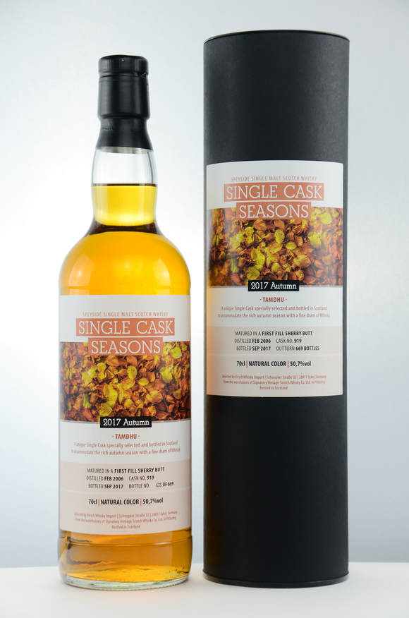 Single Cask Seasons Autumn 2017 Tamdhu 2006/2017